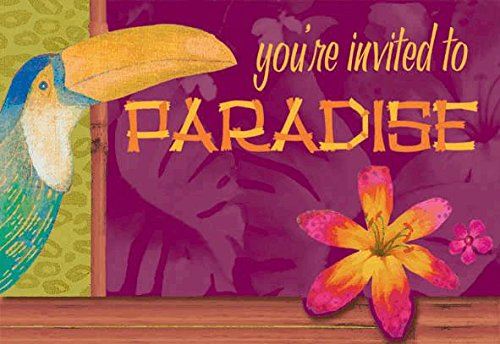 tropical jungle folded invite - 1