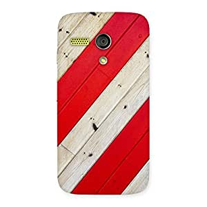 AJAY ENTERPRISES Extant Red Woodish Pattern Back Case Cover for Moto G