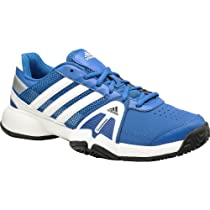 Adidas Barricade Team 3.0 Shoes - Blue/White/Silver (Mens) - 12