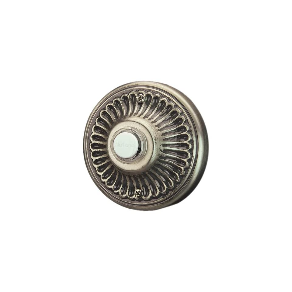 Pewter Finish NuTone NB4003P Decorative Door Chime Push Button Recess Mount