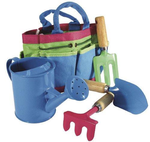 Kid kids childrens garden tool set outdoor garden for Gardening tools for kids