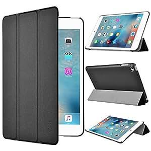 Apple iPad Mini 4 ケース,【選べる5色】【JPIVSO®】オリジナルApple iPad Mini 4 専用カバー スマートケース 超薄型 最軽量 -Apple iPad Mini 4  専用ケース (Apple Ipad Mini 4, ブラック)