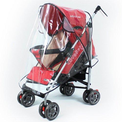Foxnovo Universal Pushchair Stroller Pram Buggy Transparent Rainproof Cover Rain Shade front-561097