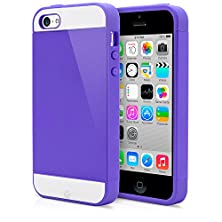buy Iphone 5C Case, Magicmobile® Cute Ultra Slim Protective [Hybrid Impact] Hard Durable Thin Tpu Cover For Apple Iphone 5C Armor Shell [ Purple - Purple ]Case With Clear Screen Protector