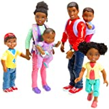 Mother, Father, Baby, Sister and Brother Loving Family Doll Set African American