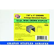 Prime Source Pneumatic GRP12 P Wide Crown Finish Staple
