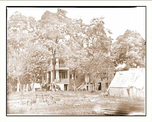Civil War Photo (M): Fairfax Court House Va. House used as a headquarters by Gen. G. B. McClellan and Ge