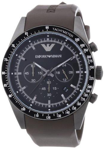 Emporio Armani AR5986 - Reloj para hombres, correa de acero inoxidable color marrón