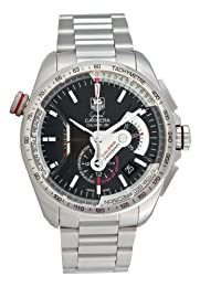 TAG Heuer Men s CAV5115 BA0902 Grand Carrera Automatic Chronograph Black Dial Watch