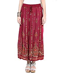 Amber Girls & Womans Maxi Skirt Handcrafted Beaded Painted Elastic Sequien Skirts