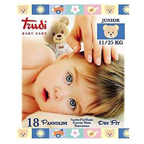 Trudi Baby Pannolini Dry Fit Junior 11/25kg 18 Pannolini