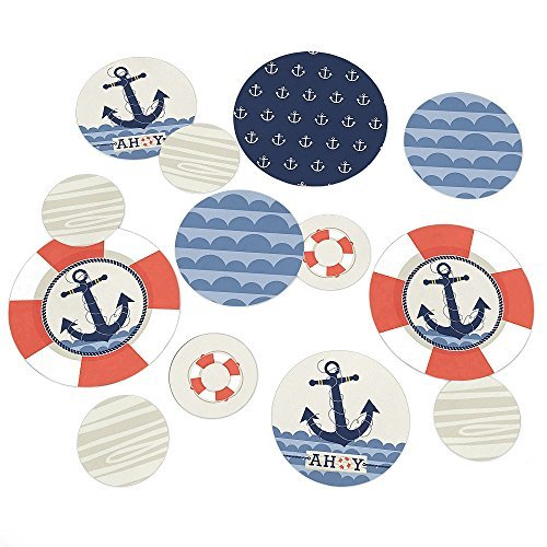 Ahoy - Nautical - Party Table Confetti - 27 Count