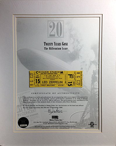 Led Zeppelin 1980 Unused Concert Ticket Matted Ltd. Ed. (Chicago Concert Tickets compare prices)