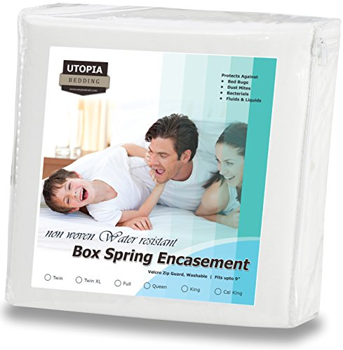 Zippered Box Spring Encasement Ample Zipper Opening for Easy Use - Water Resistant Cover, Ultimate Protection Against Insects, Dust Mites and Allergens (Twin-XL, 39 by 80 inches) by Utopia Bedding (Protection For Bed compare prices)