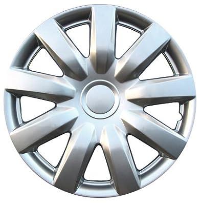 """Drive Accessories KT985-14SL 14"""" Plastic Wheel Cover, Silver Lacquer (Alloy Color)"""