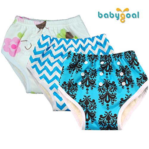 Babygoal Reuseable Adjustable Washable Waterproof Baby Training Pants 3 Pack 3fx01 (Cloth Diaper Packages All In One compare prices)