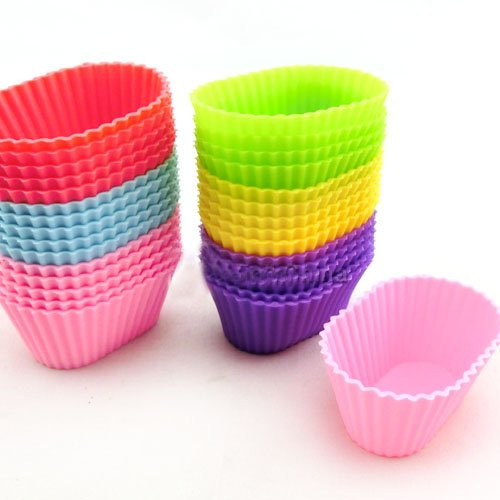 High Quality Oval Shape Soft Silicone Mould Candy Muffin Cup Cake Baking Mold Tool Cakecup Tools