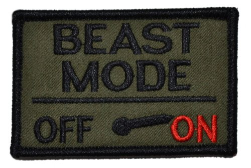 Review Of Beast Mode Activated 2x3 Military Patch / Morale Patch - Olive Drab