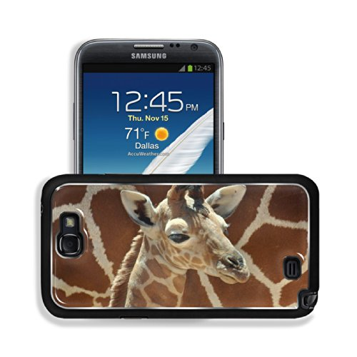 Giraffe Small Calf Face Pattern Cute Baby Africa Wildlife Animal Samsung Galaxy Note 2 Snap Cover Premium Aluminium Design Back Plate Case Customized Made To Order Support Ready 6 Inch (152Mm) X 3 2/8 Inch (82Mm) X 4/8 Inch (13Mm) Luxlady Galaxy Note 2 Pr front-1028886