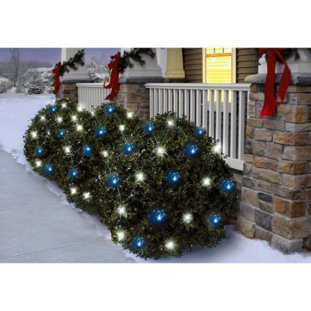 150-Count-WhiteBlue-Random-Twinkle-LED-Net-Christmas-Lights-Cool