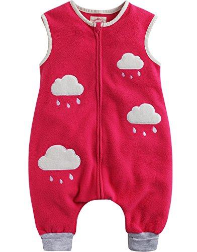 Vaenait Baby Toddler Kids Girls Boys Micro Fleece Blanket Sleeper Pink Claud M