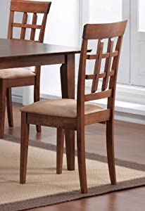 Coaster Dining Side Chair Wheat Back in Walnut - Set of 2