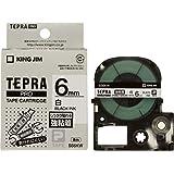 キングジム テープカートリッジ テプラPRO 強粘着 6mm SS6KW 白