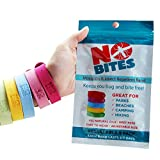 NoBite All Natural Mosquito Repellent Bracelets - 5 Pack - No Deet - Long Lasting - Money Back Guarantee!