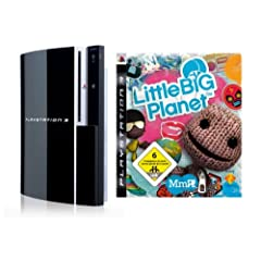 PlayStation 3 Konsole 80 GB (inkl. Dual Shock Wireless Controller) + Little Big Planet