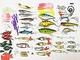 【特選130点セット】KUMBAYA 特選 ルアー ワーム 色々130個セット バスフィッシング 海釣り 釣具セット 専用 クリアケース 入り