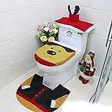 Ochine シンプルでおしゃれなエルクのトイレ カッコイイエルク3点セット 蓋カバー トイレマット トイレタリー 抗菌 トイレマット 吸着 補助べんざシート 便座カバー 便座シート