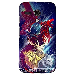 Jugaaduu Game Of Thrones GOT House Targaryen Back Cover Case For Moto G (1st Gen)