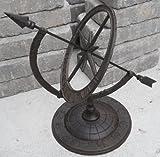 Iron Armillary Sundial with Arrow