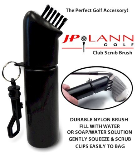 Club Scrub Wet Cleaning Brush for Golf Clubs by JP Lann (Fills Easily, Add Water or Water/Soap Solution for Wet Scrub Action!)