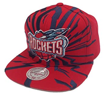 Mitchell & Ness NBA Houston Rockets Earthquake Snapback Red Navy Blue - One-Size by Mitchell & Ness