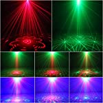 FOCUSAM(US) LED Light Projector DJ Gear Laser Lights Stage Lighting Red and Green Laser Light Show With Blue LED Auto Sound-active Professional Disco Light For DJs Family Party Clubs and Bars from FOCUSAM