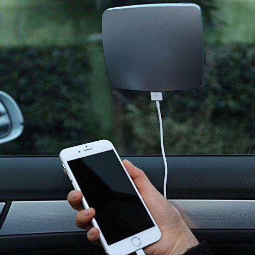 candora Universal KFZ 2800mAh tragbare USB Sun Solar Fenster Ladegerät Compact tragbare Power Bank Externer Akku für iPhone, iPad, Samsung, Nexus, HTC und mehr
