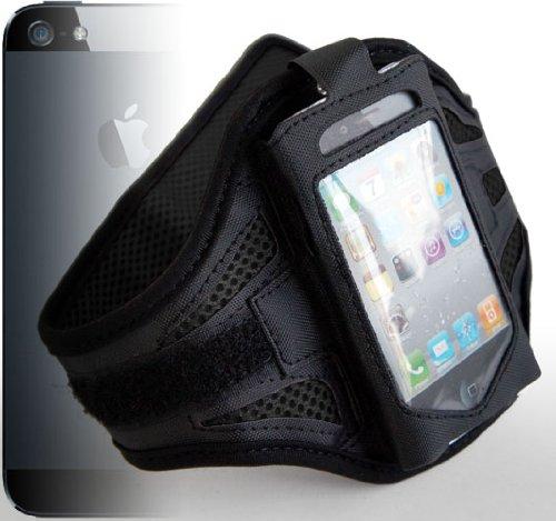CASEiLIKE ® - Sport IP5 dauerhafte verstellbare Armband - Black - Unisex Türabdeckung Gehäuse (Buddy Gym, Radfahren, Joggen und Laufen) für das Apple iPhone 5