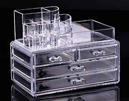 Cosmetic Box clear acrylic makeup drawer organizer No.3