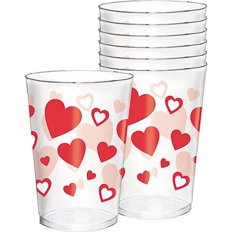 Valentine's Day Plastic 10oz Tumblers 30ct