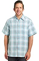 Haggar Men's Short Sleeve Microfiber Shirt - Bright White