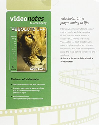 VideoNotes on CD for Absolute C++