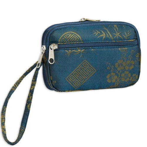 Multifunction Wristlet - Silk Jacquard jacquard green label silk colors cyan [pack of 3 ]