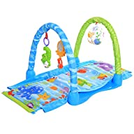 Arshiner Grow-with-me Activity Mat and Ball Pit Kick&Crawl Gym