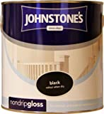 Johnstones No Ordinary Paint One Coat Non Drip Oil Based Gloss Black 2.5L