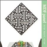 MANJA WOO-0377-D MDF リゾートパネル 100cm×100cm (バリニーズ 卍) 【 欄間 ウォールデコレーション 木製彫刻 アジアン雑貨 】