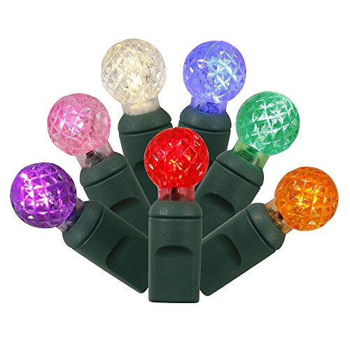 4 Sets of 50 Multi-Color LED Faceted G12 Berry