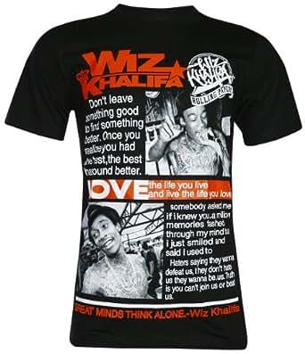 Wiz Khalifa American Rapper T Shirt (TN005) (Medium, Black)