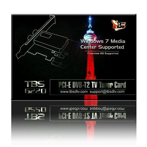 TBS PCI-E DVB-T2 TV Tuner Card High Definition Digital Free to Air Tuner (DVB-T/DVB-T2) Receiver - TBS6220