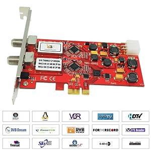 TBS 6982, DVB-S2 Doppel-Tuner, PCIe Satelliten-HDTV Empfangskarte (Low Profile)